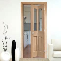 Folding Interior Doors Interior Bifold Doors Malton Oak Bi Fold Door With Clear Safety Glass