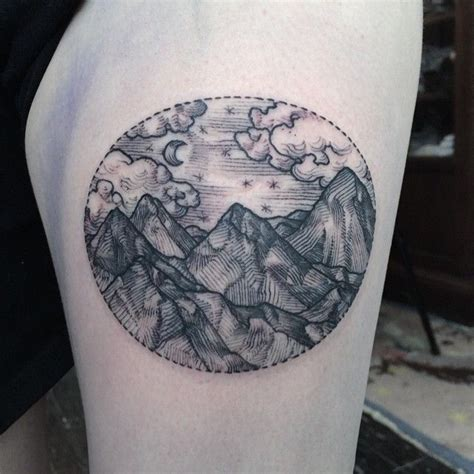circle landscape tattoo best tattoo ideas amp designs