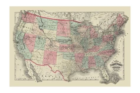 trademark quot united states text map quot canvas wall by
