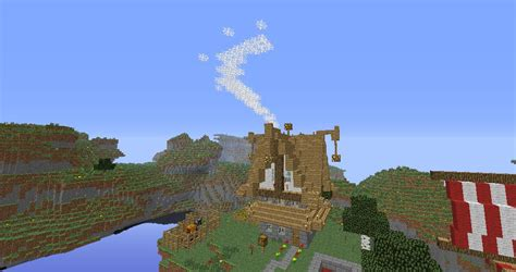 minecraft longboat nord house and viking longboat minecraft project