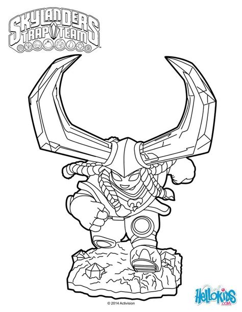 skylander birthday coloring page head rush coloring page cole s 6th birthday pinterest