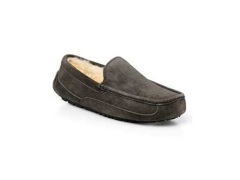 ugg house shoes men mens ascot ugg slippers charcoal