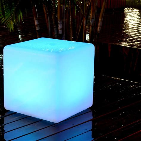 Outdoor Led Light Cube Led Cube Outdoor Light Indosoul Touch Of Modern