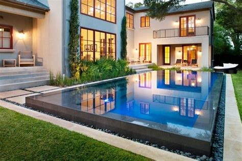 contemporary pool design spruce up your small backyard with a swimming pool 19