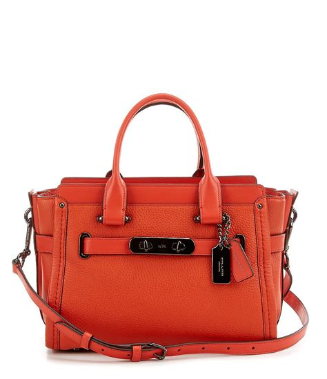 Coach Swagger 27 In Pabble Leather coach swagger 27 in pebble leather dillards
