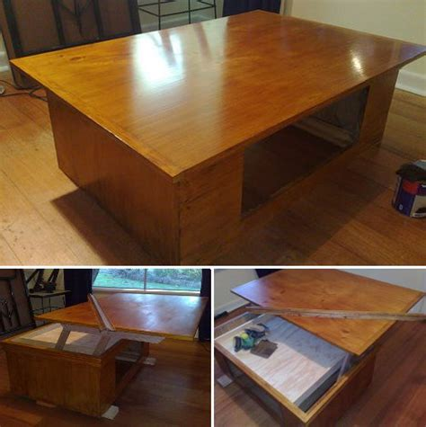 Coffee Table With Extending Top Liftoff Diy Coffee Table With Extending Laptop Holding Top