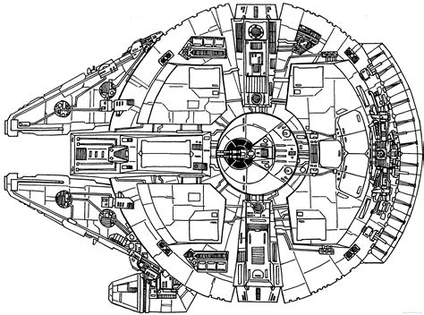 star wars millennium falcon coloring page star wars millennium falcon blueprints sketch coloring page