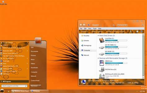 orange themes for windows 10 orange visual style for windows 7 desktop themes