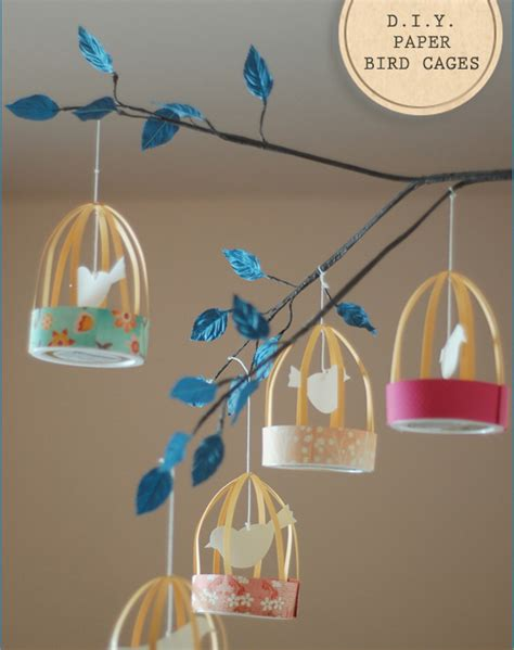 Diy Paper Decorations by Inspired Celebration Diy Decorations Paper Bird Cage