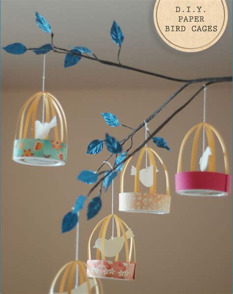 diy paper decorations inspired celebration diy decorations paper bird cage