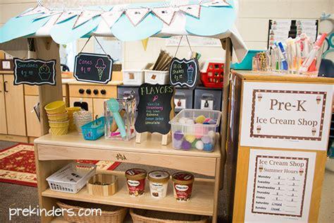 Kitchen Bulletin Board Ideas by Ice Cream Shop Dramatic Play Prekinders