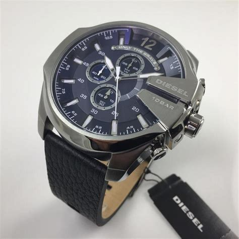 Diesel Brave Date Leather D 4 2cm s diesel mega chief chronograph oversized dz4423