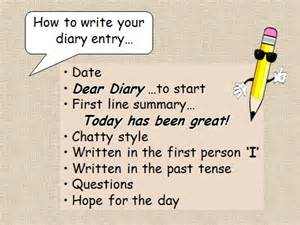 diary writing template ks1 diary entry ks2 powerpoint to teach ks2 primary