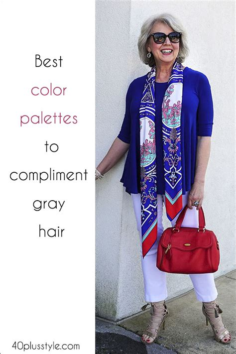 what colors compliment gray the best color palettes to complement gray hair