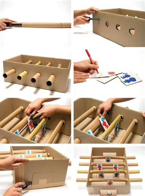 How To Make A Table Football Out Of Paper - 44 best images about cardboard arcade on
