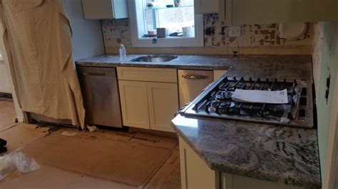 Kitchen And Bath Design Center Nj Viscont White Granite Countertop Installation In Wanaque Nj