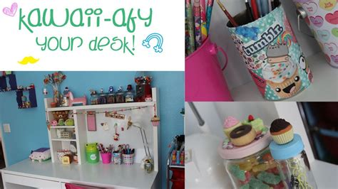 cool things to put on your desk diy kawaii afy your desk youtube