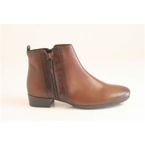 gabor gabor style quot rundle quot brown leather zip up ankle boot