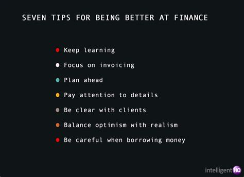 7 Tips On Being A by 7 Tips For Being Better At Finance