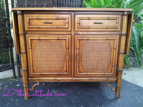 dixie furniture  tahiti collection vintage faux bamboo sideboardbuffet  drop side
