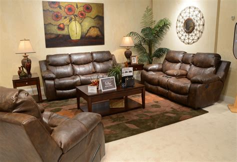 Living Room Furniture Sets Power Reclining Timber Power Reclining Living Room Set From