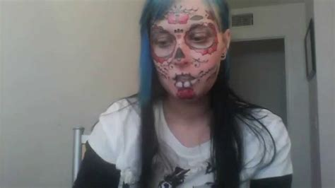 sugar skull face tattoo review youtube