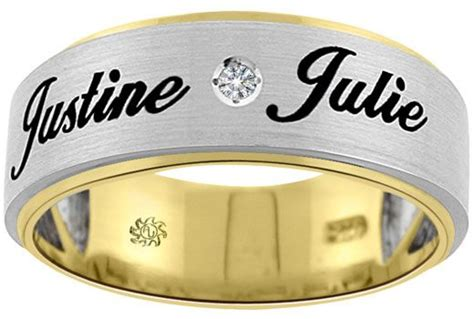 wedding bands with names 15 name engraved ring designs that are for wedding