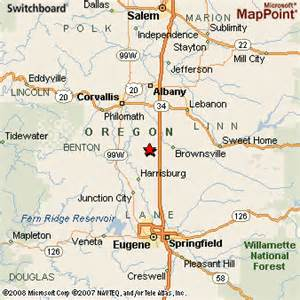 halsey oregon map pin map of oregon and physical details maps on