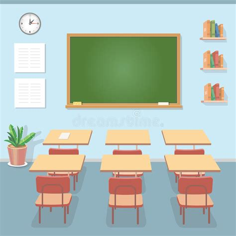 classroom layout study school classroom with chalkboard and desks class for