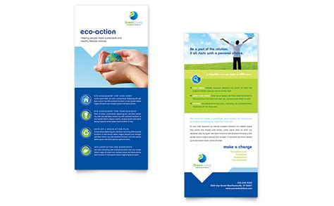 rack card template for openoffice green living recycling rack card template word publisher