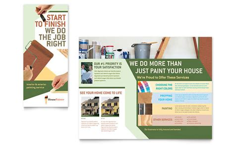 painting flyers templates free painter painting contractor brochure template design