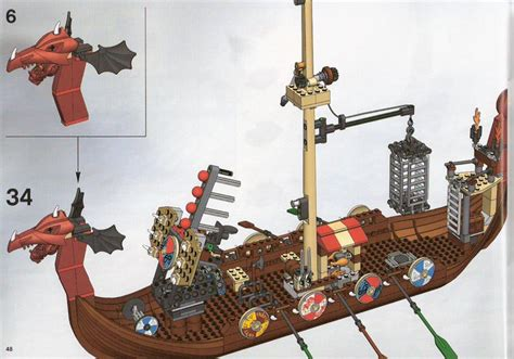 lego viking boat instructions lego viking ship challenges the midgard serpent