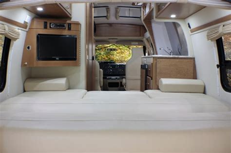 rv with king size bed pleasure way industries the ford excel class b motorhome
