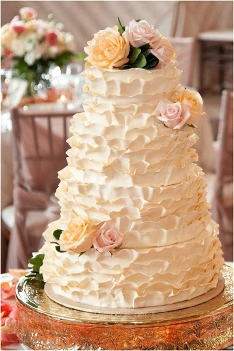 Wedding Ruffled by Pink Ruffle Wedding Cake Images