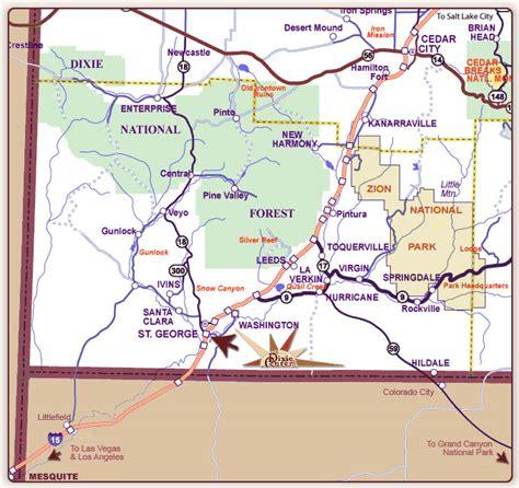map of st george utah southern utah map