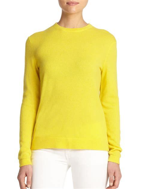 Yellow Sweater lyst polo ralph crewneck sweater in yellow