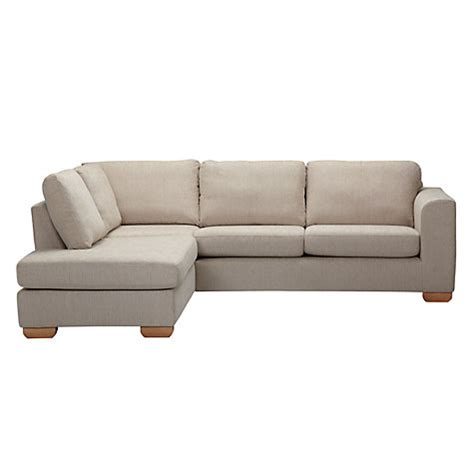 Sofa With Chaise End buy lewis felix lhf corner chaise end sofa with light legs mocha lewis