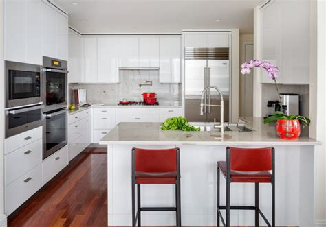 Kitchen Design Massachusetts Boston Ma White High Gloss Kitchen Contemporary Kitchen Boston By Newton Kitchens