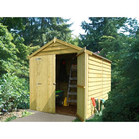Windowless Shed by Shedswarehouse Stowe 12ft X 6ft Dip Treated