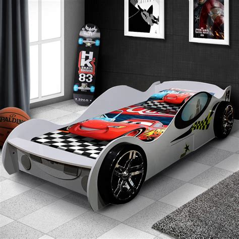 kids car bed supercar styled racing bed white oli