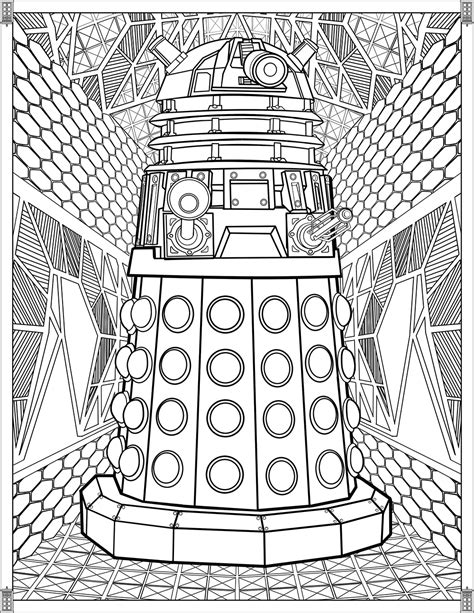 botanical lithograph grayscale coloring book books doctor who pages dalek tv shows coloring pages for
