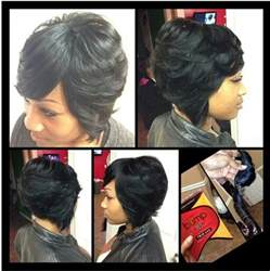 layered bob sew in hairstyles for black for pinterest the world s catalog of ideas