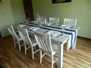 white washed farmhouse table