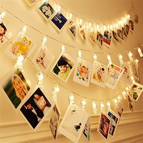 in led picture light cookey led photo clip string lights 40 photo 5m