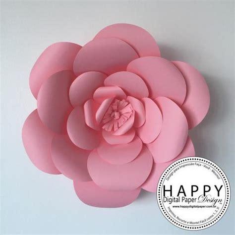 moldes de flores de papel molde para flores de papel gigantes happy digital paper