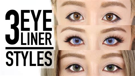 3 eyeliner styles makeup tutorial amp tips wengie youtube