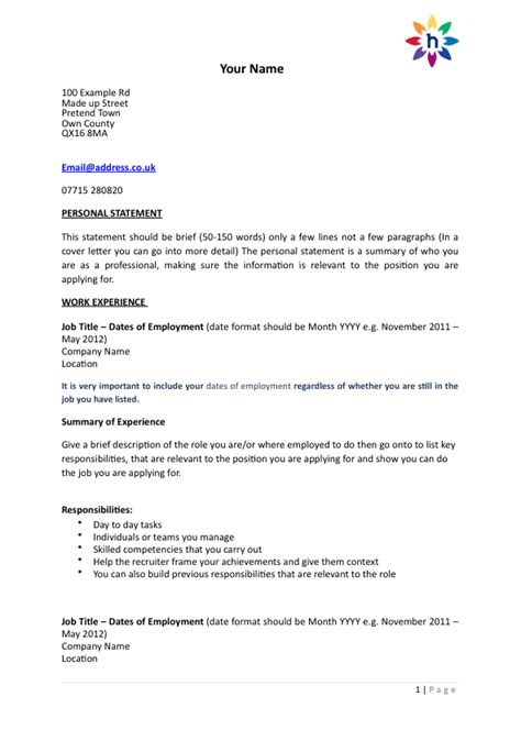 cover letter cv template uk excellent cover
