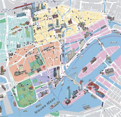 rotterdam netherlands on map rotterdam map detailed city and metro maps of rotterdam