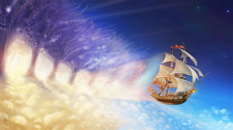 paint dream painting dream ship wallpaper hd wallpapers