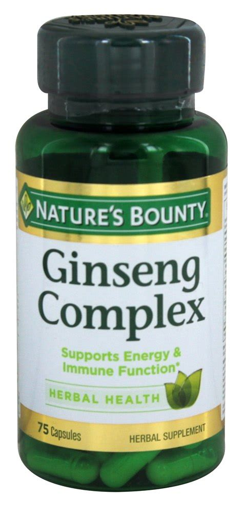 Nature S Bounty Ginseng Complex 75 Capsules buy nature s bounty ginseng complex plus royal jelly 75 capsules at luckyvitamin